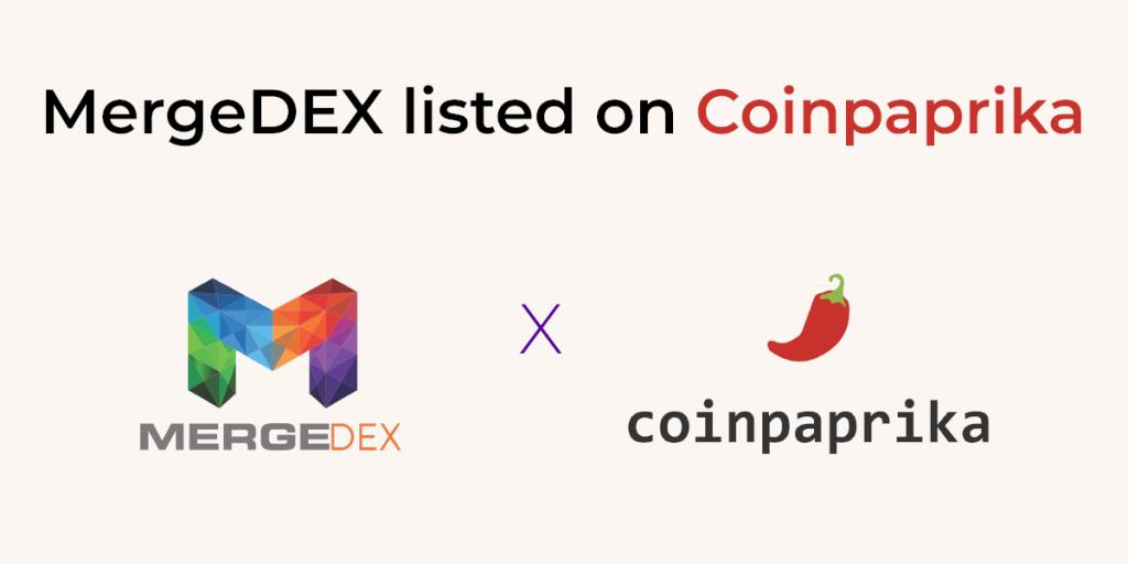 MergeDEX on Coinpaprika